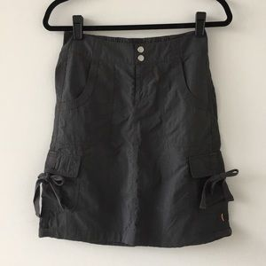 Lucy Nylon Cargo Skirt. XS.  EUC